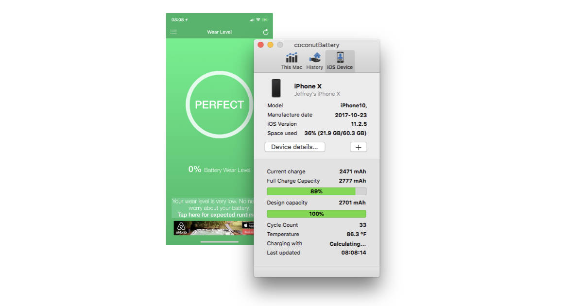 iPhone battery health monitoring apps