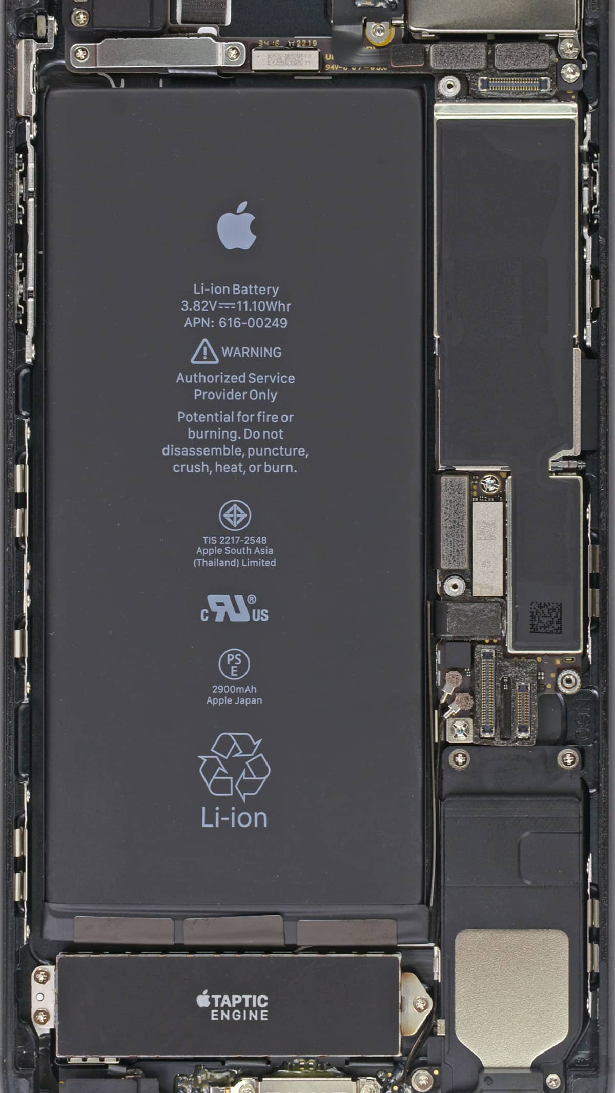 Image of an iPhone battery, which is the center of the iPhone throttling issue.