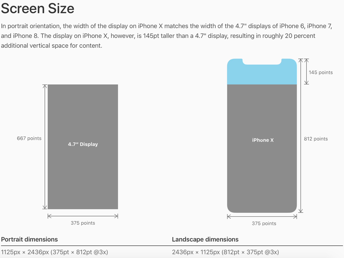 Different screen size means a narrower iPhone X aspect ratio.