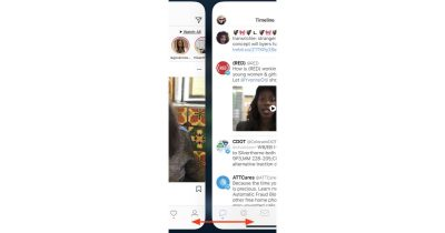 Swipe left or right on the iPhone X Home bar to move between apps