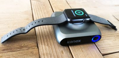 Kanex GoPower Watch charging an Apple Watch without a cable