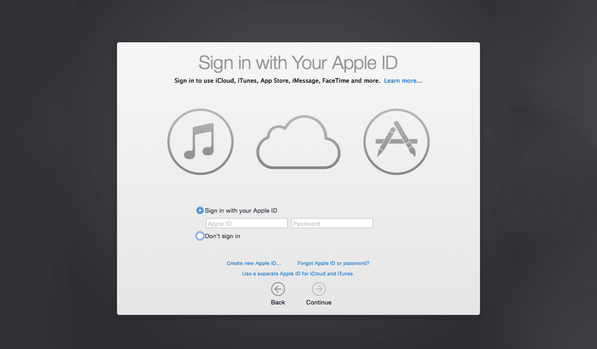 Sign in with your Apple ID during the Mac set up guide.