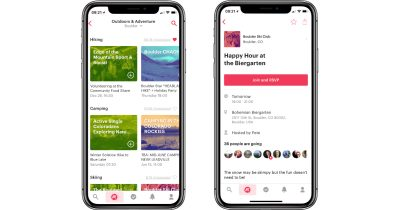 Meetup app for iPhone