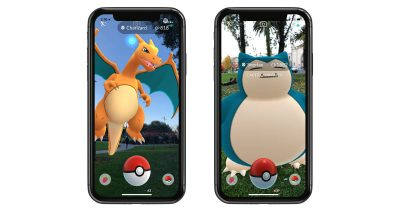 Pokémon GO with ARKit support on iPhone