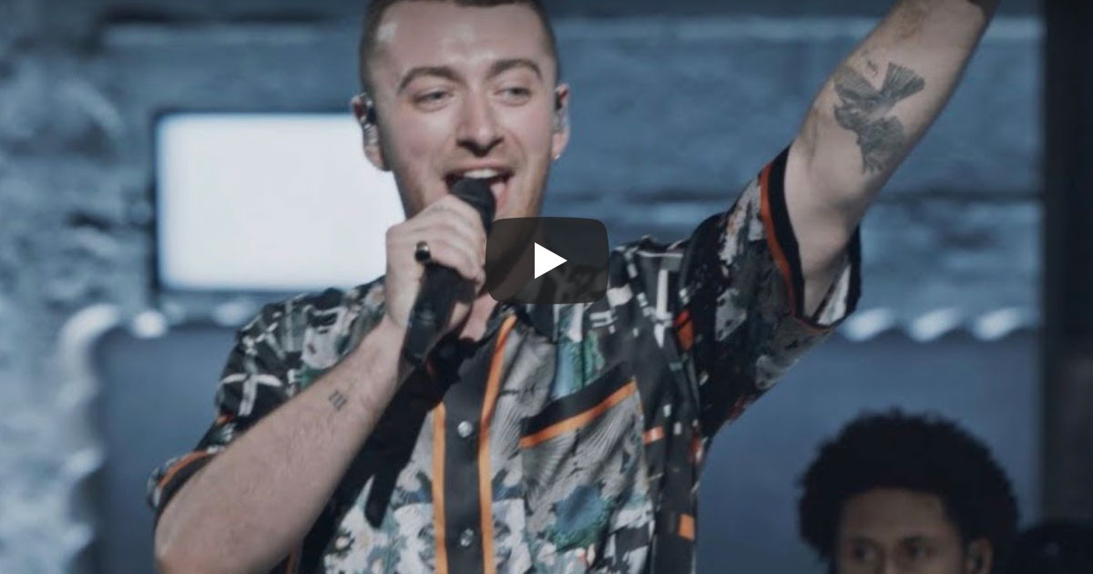 "Screenshot from ""For the Thrill of It All Live: Sam Smith"""