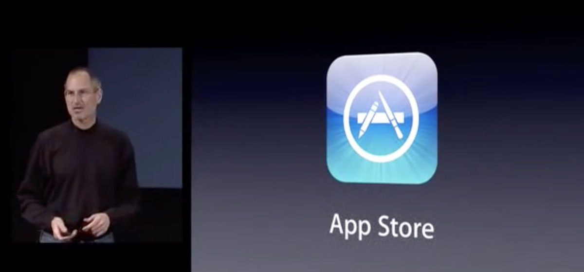 Steve Jobs introduces the App Store in 2008
