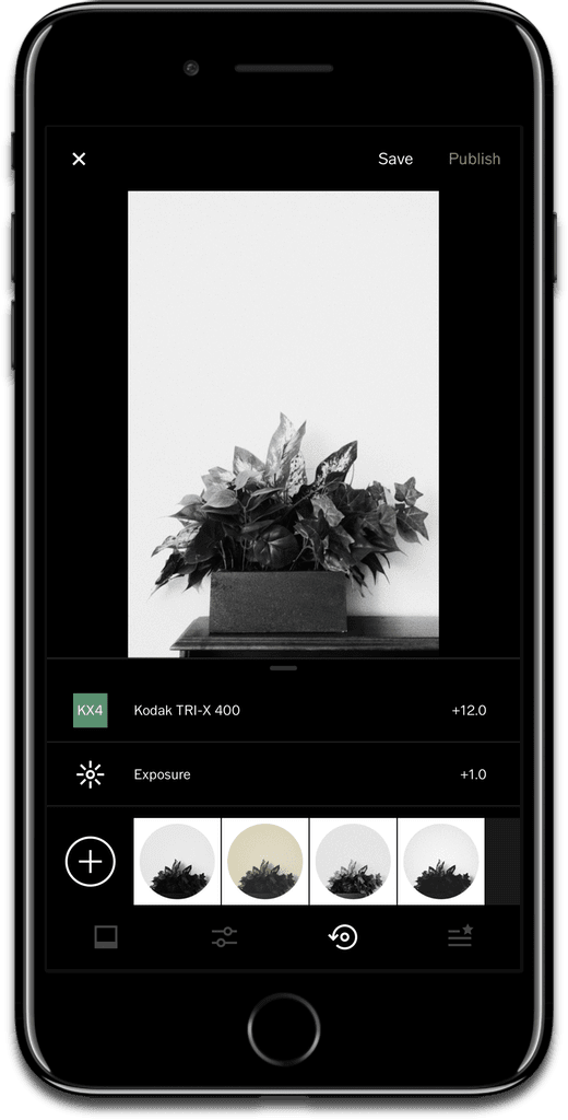 Using a Recipe with VSCO X.