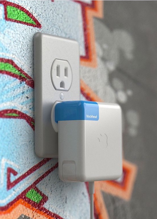 With Blockhead, your charger is flush against the wall instead of sticking out at an angle.