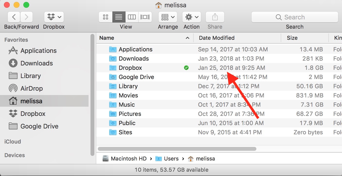 Relative Dates Turned Off in Finder window list view