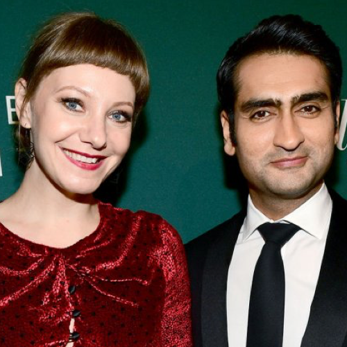 Image of Kumail Nanjiani and Emily V. Gordon for Apple TV Guide.