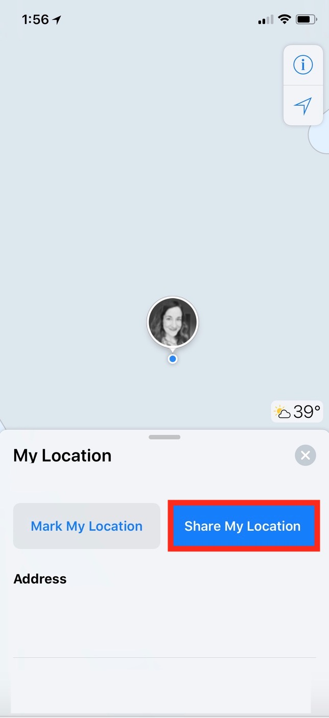 """Share My Location"" from Maps on the iPhone"