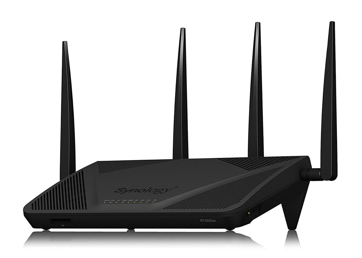 Image of Synology RT2600ac router as an alternative to both mesh routers and Apple's AirPort routers.