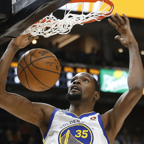 Image of Kevin Durant, NBA star for Apple TV guide.