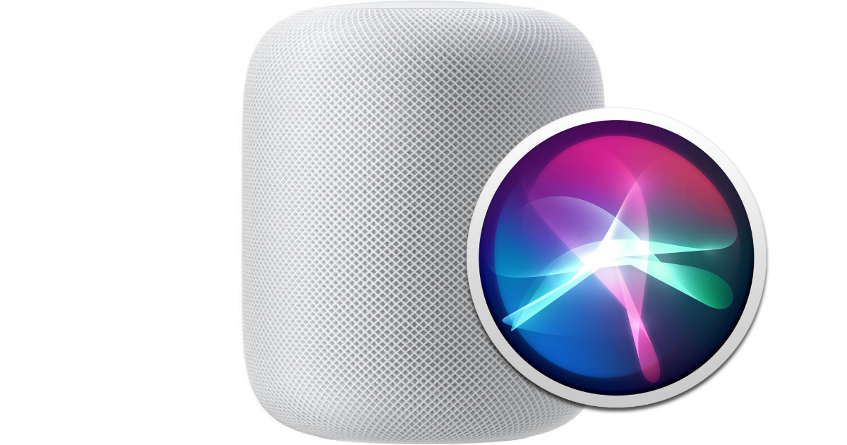 Apple HomePod with Siri.