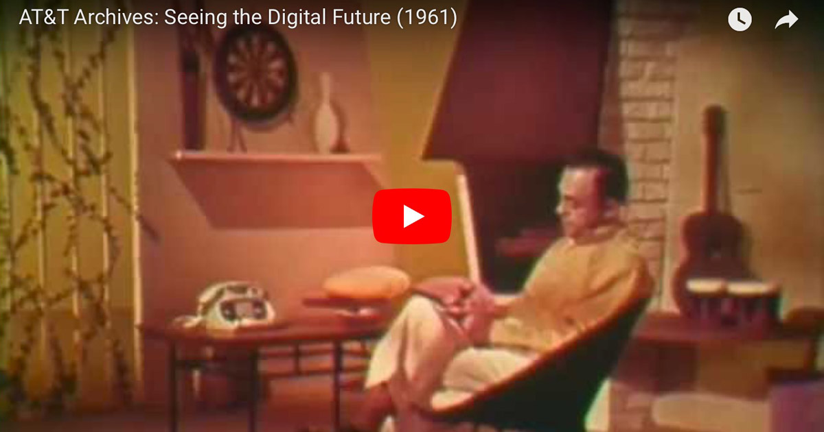 "Screenshot from AT&T's ""Seeing the Digital Future"" from 1961"
