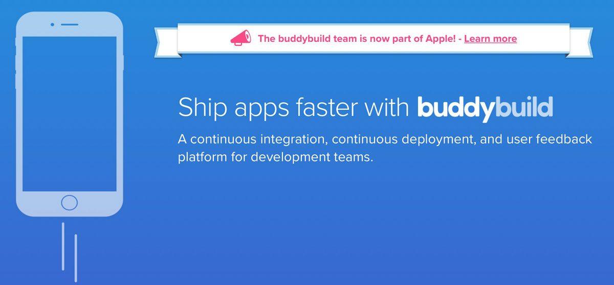 Buddybuild Announces Apple Acquisition