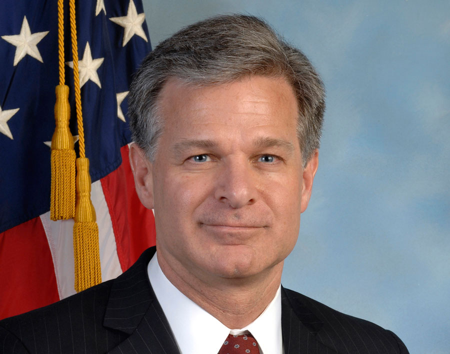 FBI Director Christopher Wray Calls Encryption on Devices a Safety Issue