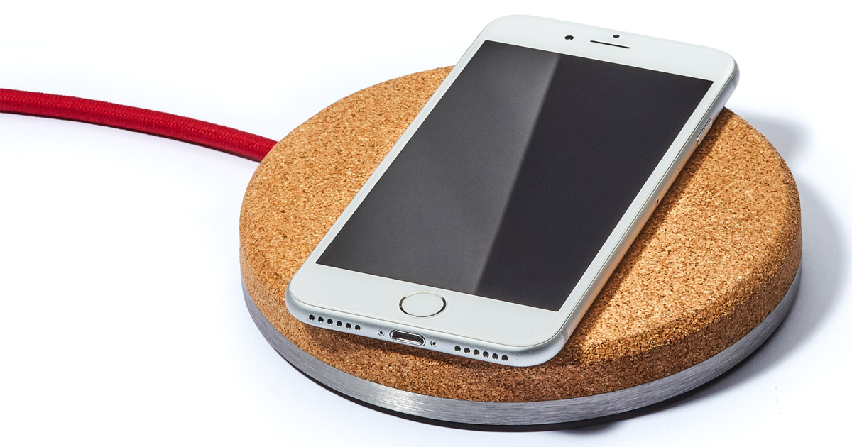 This Qi Charger Was Designed to Look Good, Uses Cork Bed