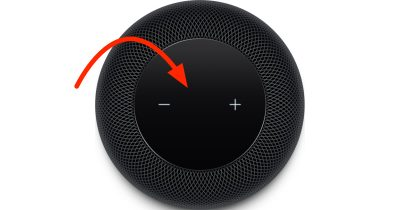 HomePod gesture touch surface