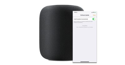 HomePod software update with Home app on iPhone