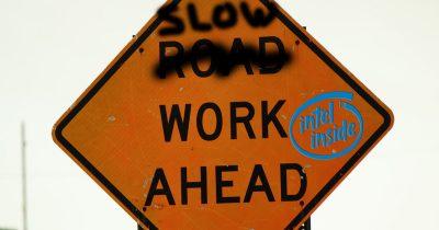 Slow Work Ahead - Intel Inside