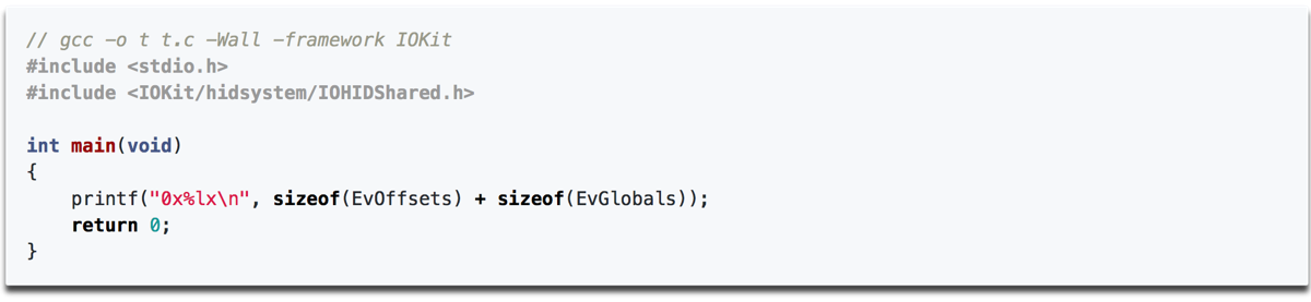 Some of the code in the macOS zero day IOHIDeous.