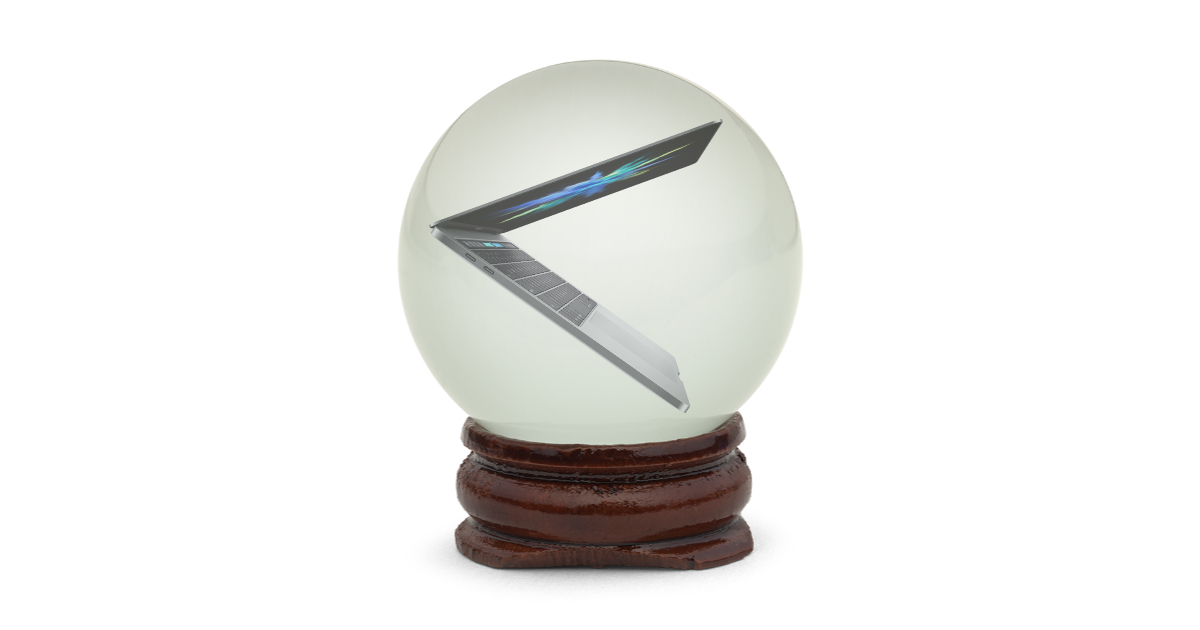 MacBook Pro in crystal ball