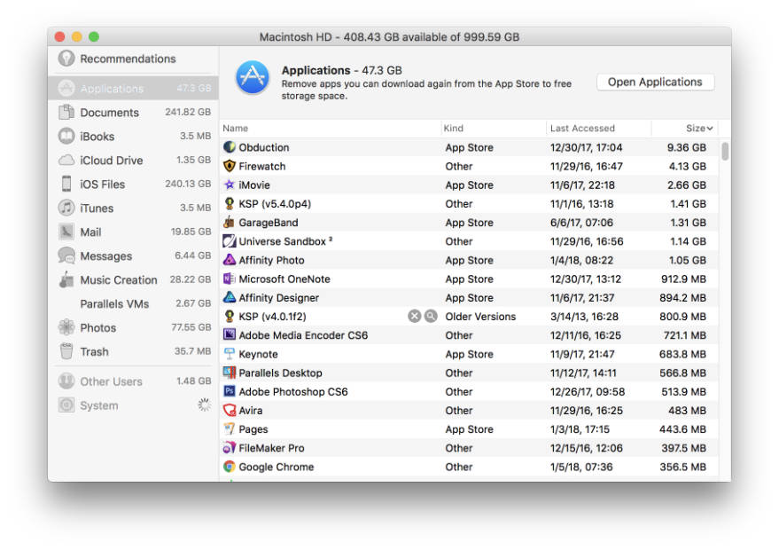 how to clear space on your mac