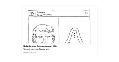 New Yorker uses Google Arts & Culture app for Trump political cartoon