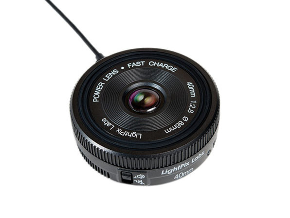 This Qi Wireless Charger Looks Like a Camera Lens: $29.99