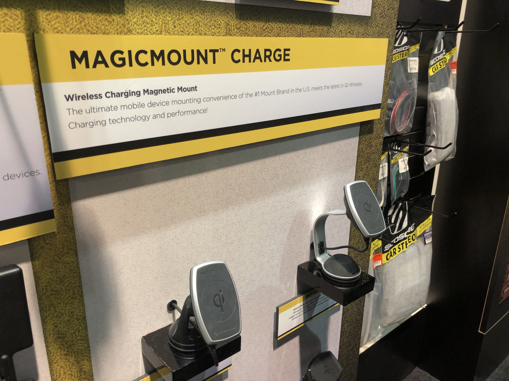CES – Scosche Announces New Magic Mount Pro Line with Qi Charging Built-in