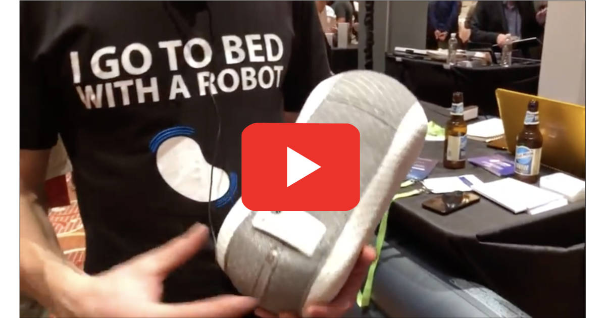Somnox sleep assistant robot at CES 2018