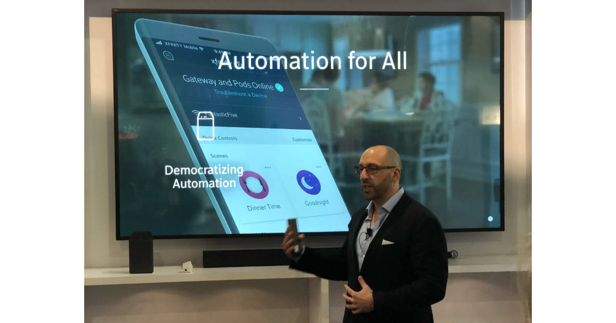 Xfinity home automation presentation at CES 2018