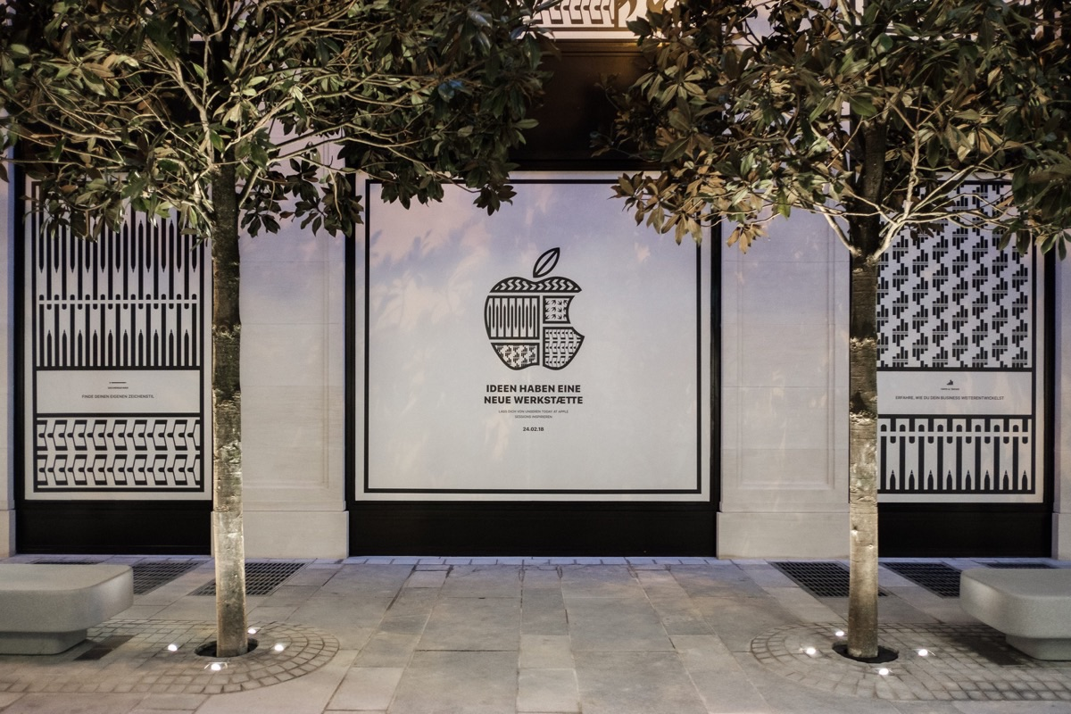 Image of Austrian Apple store.