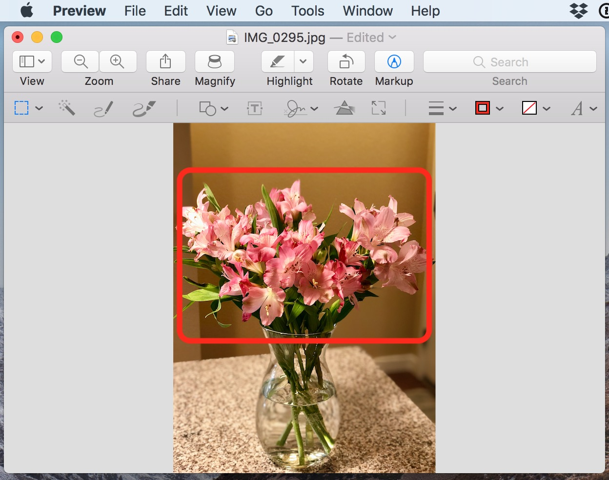 Editing in an image in Preview