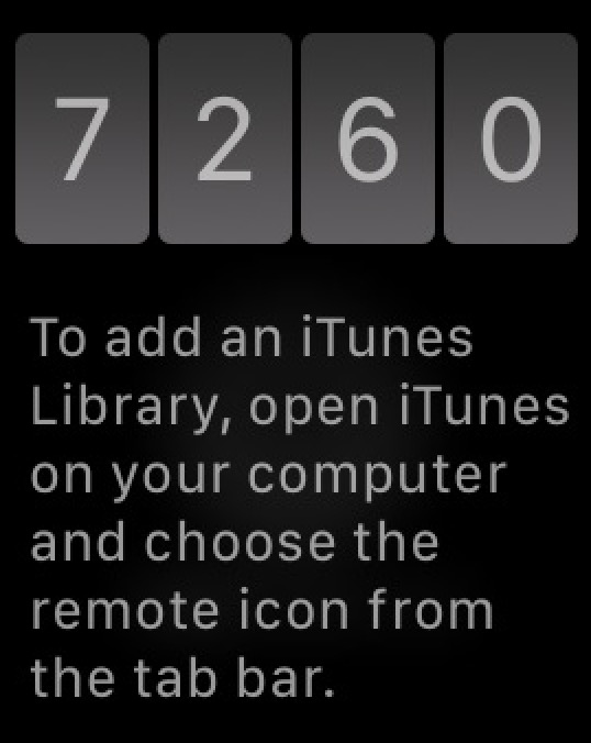 Apple Watch Remote app Code to Type in iTunes on your Mac