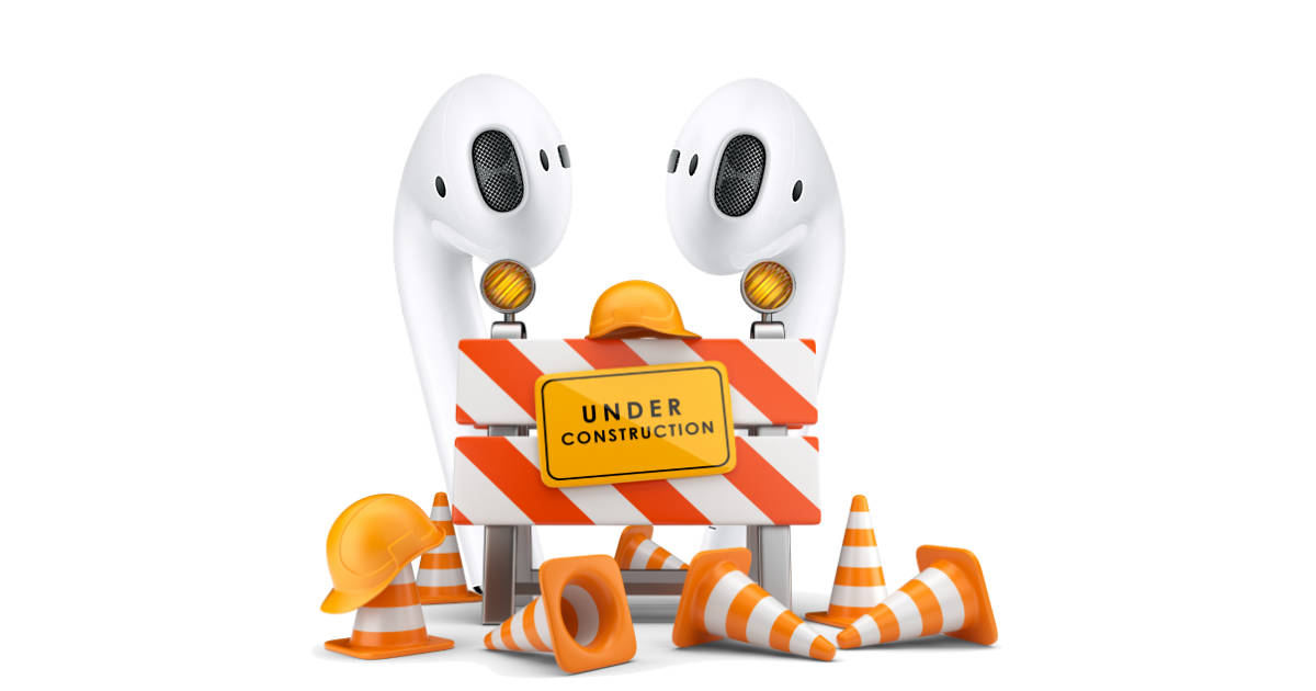 AirPods under construction
