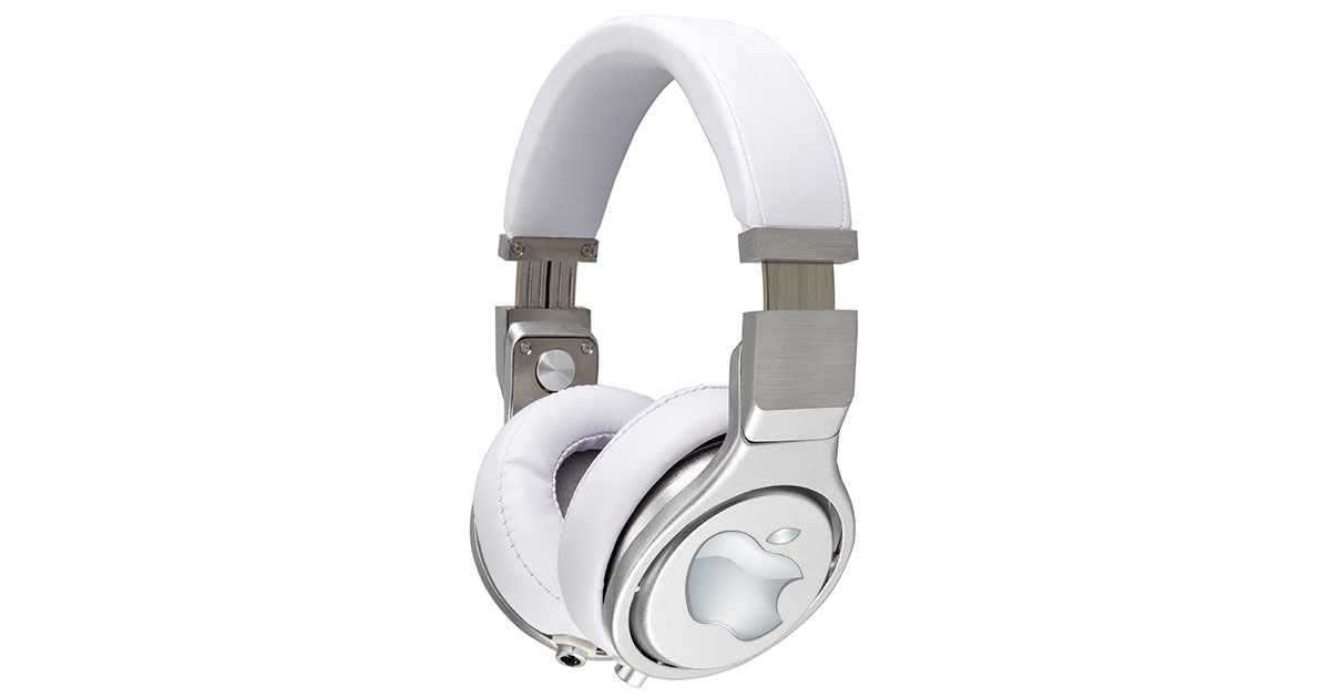 over the ear headphones with Apple logo