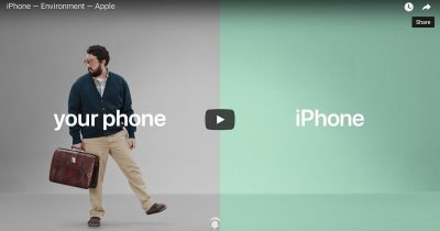 Screenshot from Apple iPhone Commercial