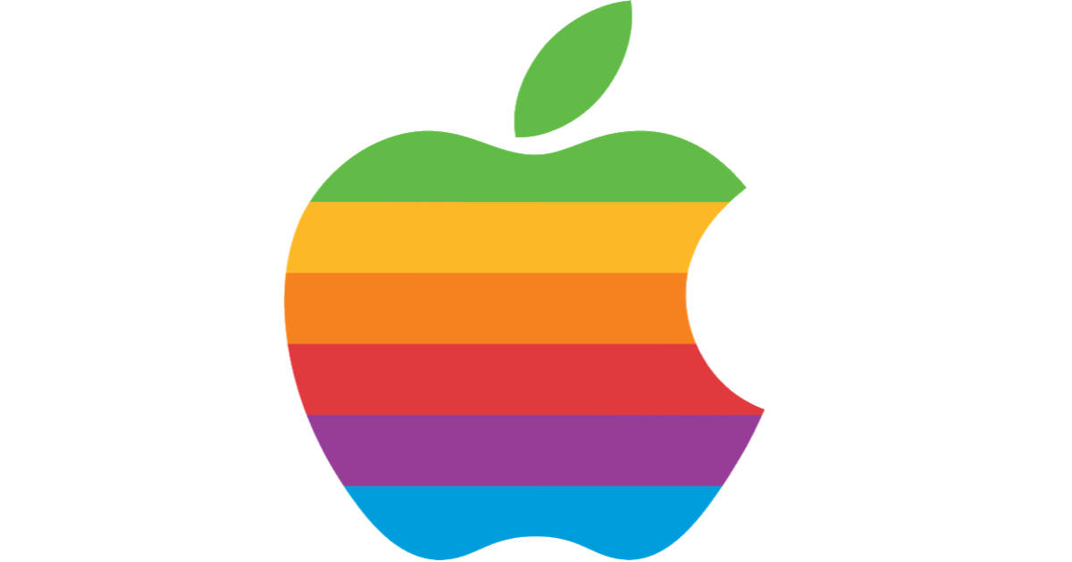 Apple rainbow logo