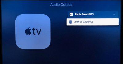Audio Output device list on Apple TV