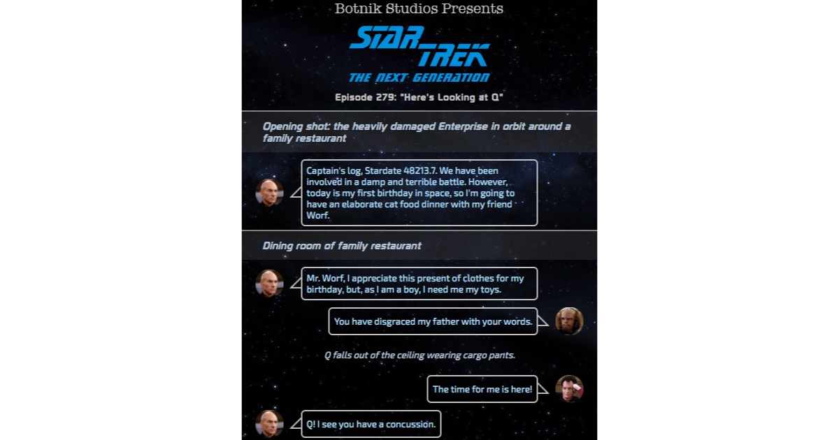 Botnik Creates the Best Star Trek: TNG Script with Predictive Keyboard