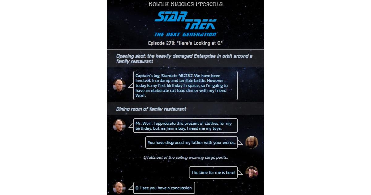 Botnik Creates the Best Star Trek: TNG Script with Predictive Keyboard