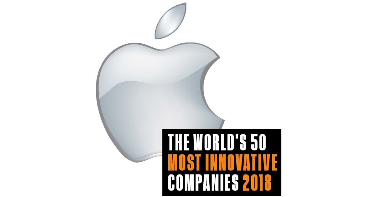 Apple Named Most Innovative Company in 2018 by Fast Company
