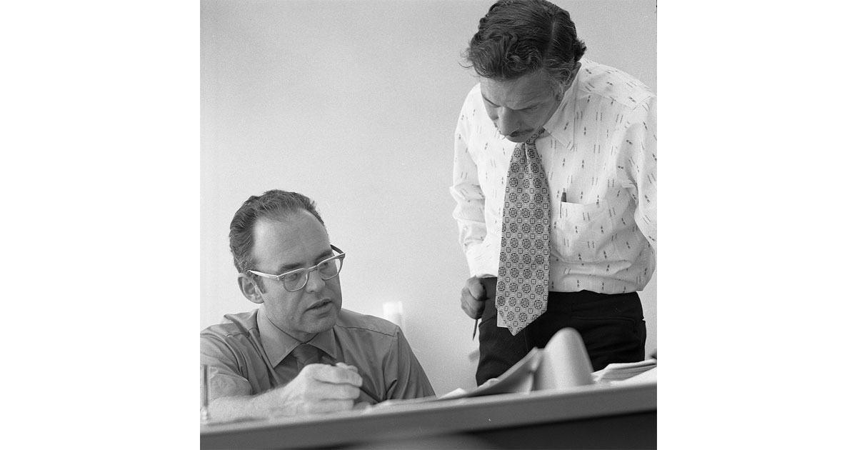 Gordon Moore and Robert Noyce, courtesy of Intel