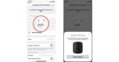Home app updating Apple ID payment information for HomePod
