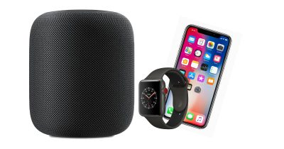 HomePod Apple Watch and iPhone X