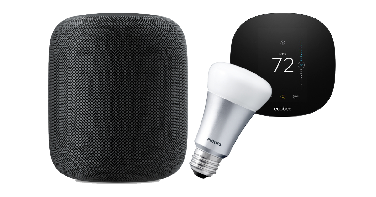 HomePod with smart home devices