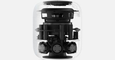 HomePod cut away showing internal components