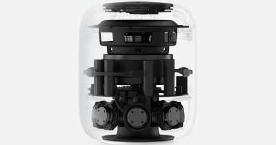 HomePod cut away showing internal components